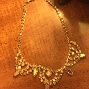 Cristal   Multi color necklace